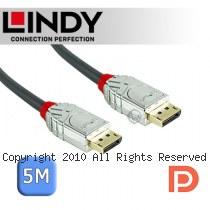 LINDY 林帝 CROMO 鉻系列 DisplayPort 1.3版 公 to 公 傳輸線 5m (36304)