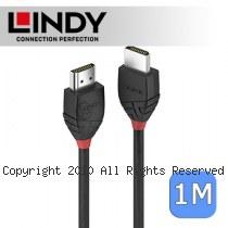 LINDY 林帝 BLACK系列 HDMI 2.0(Type-A) 公 to 公 傳輸線 1m (36471)
