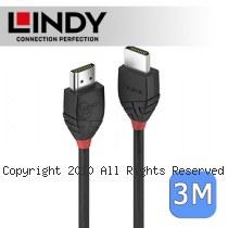 LINDY 林帝 BLACK系列 HDMI 2.0(Type-A) 公 to 公 傳輸線 3m (36473)