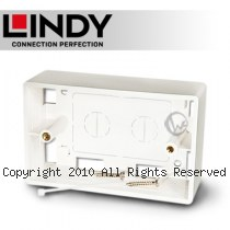 LINDY 林帝 美規接線盒(115.2 X 72 X 38 mm), 白色 (60548)