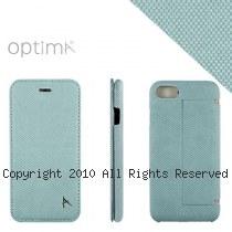 Optima iPhone7/8 側掀站立型皮套 針織系列 湖水綠