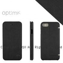 Optima iPhone7/8 側掀站立型皮套 針織系列 黑