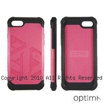 Optima iPhone7/8 雙料耐衝擊保護殼 桃紅
