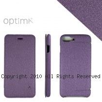 Optima iPhone7 Plus 側掀站立型皮套 亞麻系列 葡萄紫