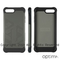 Optima iPhone7/8 Plus 雙料耐衝擊保護殼 大地灰