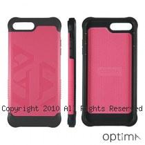 Optima iPhone7/8 Plus 雙料耐衝擊保護殼 桃紅