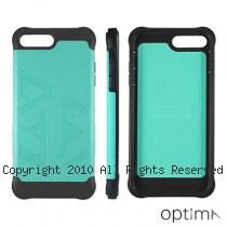 Optima iPhone7/8 Plus 雙料耐衝擊保護殼 藍綠色
