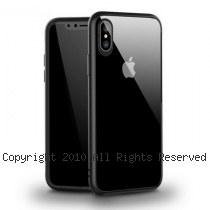 透明殼專家 iPhone X 蜂巢抗震邊框 透明背蓋防摔殼 [黑]