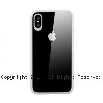 透明殼專家 iPhone X 蜂巢抗震邊框 透明背蓋防摔殼 [白]
