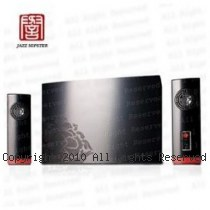 JS 淇譽 JS3355 牡丹系列 三件式 2.1聲道 多媒體電腦喇叭【黑色】