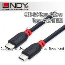 LINDY 林帝 USB2.0 Type-C/公 to 公 傳輸線 2m (41872)