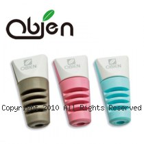 Obien 台灣製 Apple Lightning 原廠傳輸線 專用保護套 (藍/粉各二) 四入/組