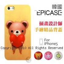 Epicase 插畫設計師手繪系列 iPhone5 輕薄抗磨 精品手機殼【Heart】