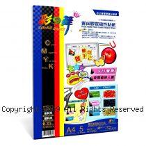 彩之舞【HY-H20】A4 防水霧面膠質磁性貼紙 5張