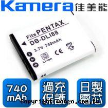 Kamera 佳美能 Sanyo DB-L80 數位相機 鋰電池