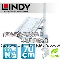 LINDY 林帝 台灣製 筆電/平板 長懸臂式支架+70cmC型夾鉗式支桿 組合 (40693+40699)
