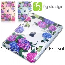 i3g 手繪風繡球花系列 iPad2專用 硬式透明保護殼