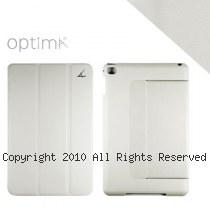 Optima iPad mini 4 典藏系列 多角度 平板保護殼 【白灰】