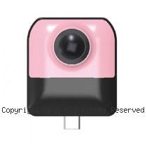 Cube720 雙魚眼 android專用 VR全景攝影機【粉】
