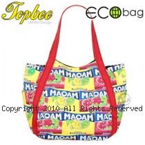 Topbee 糖果塗鴉包 ECO Bag 日本樂天正夯 大空間 萬用帆布包 (9041)