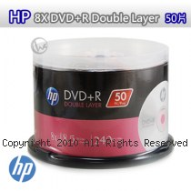 HP 8X DVD+R Double Layer 50片