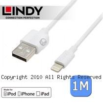 LINDY 林帝 Apple認證 Lightning(8pin) 轉 USB傳輸線 1m (31326)
