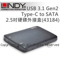 LINDY 林帝 USB 3.1 Gen2 Type-C to SATA 2.5吋硬碟外接盒(43184)