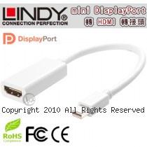 LINDY 林帝 mini DisplayPort公 轉 HDMI母 轉換器 (41014)【相容Thunderbolt】