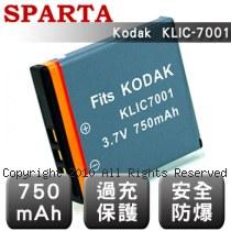 SPARTA Kodak KLIC-7001 安全防爆 高容量鋰電池