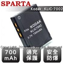 SPARTA Kodak KLIC-7002 安全防爆 高容量鋰電池