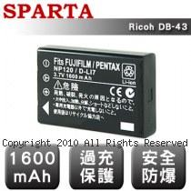 SPARTA Ricoh DB-43 數位相機 鋰電池