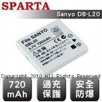 SPARTA Sanyo DB-L20 數位相機 鋰電池