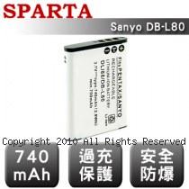 SPARTA Sanyo DB-L80 數位相機 鋰電池