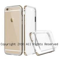 透明殼專家 iPhone6/6s Plus(5.5吋) 新一代 金屬邊框+抗刮背版保護殼