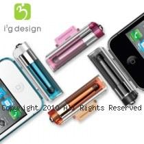 i3g 觸控/立架兩用 繽紛透明色 台灣製 iPhone4/4s專用 觸控筆 【塑膠款】