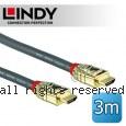 LINDY 林帝GOLD系列 HDMI 2.0(Type-A) 公 to 公 傳輸線 3M (37863)