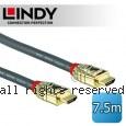 LINDY 林帝GOLD系列 HDMI 2.0(Type-A) 公 to 公 傳輸線 7.5M (37865)