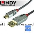 LINDY 林帝CROMO 鉻系列 USB2.0 Type-A/公 to Mini-B/公 傳輸線 0.5m (36630)