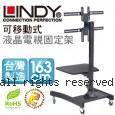 LINDY 林帝 台灣製 高質感鋁合金 可移動式 液晶電視固定架 (40762)【免運】