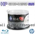 HP 6X BD-R 藍光光碟 25GB 50片
