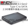 LINDY 林帝 USB 3.1 Gen2 Type-C to SATA 2.5吋硬碟外接盒(43184)