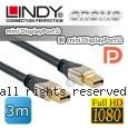 LINDY 林帝 CROMO mini-DisplayPort公 對 mini-DisplayPort公 1.2版 數位連接線 3m (41543)