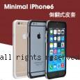 Minimal iPhone6 雙材質 金屬按鍵 透明保護框(附贈隨身立架)