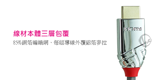 LINDY 林帝 CROMO鉻系列 HDMI 2.0(Type-A) 公 to 公 傳輸線