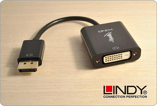 LINDY 林帝 主動式 DisplayPort 轉 DVI-D 轉接器 (41734) 04