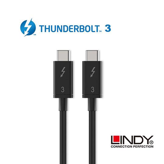 LINDY 林帝 被動式 Thunderbolt 3 INTEL 原廠認證傳輸線, 0.5m (41555) 02