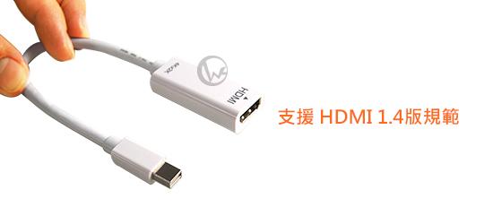 LINDY 林帝 mini DisplayPort公 轉 4K HDMI母 主動式轉接器 (41729)  01