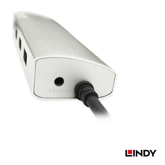 LINDY 林帝 USB3.1 Gen1 Type-C to 有線千兆網路+3埠USB3.0集線器(43177) 04