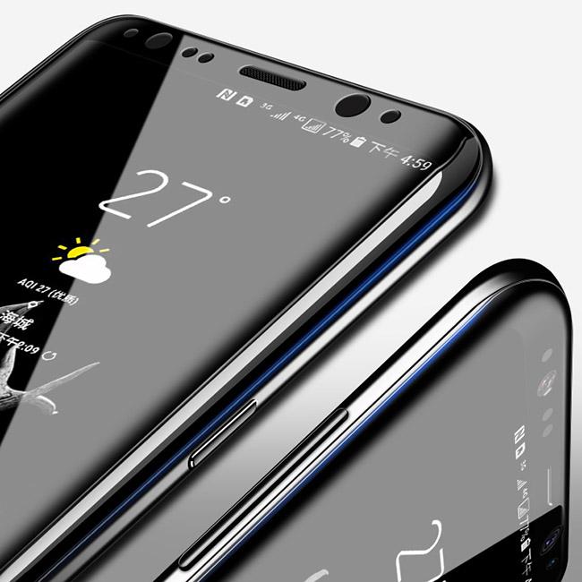 透明殼專家 SAMSUNG S9 防爆軟膜全螢幕保貼2枚入