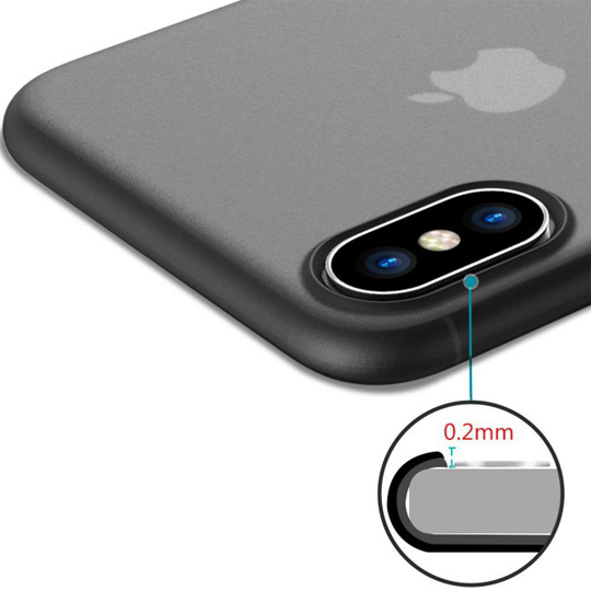 透明殼專家 iPhone X 極薄 0.35mm 全包覆保護殼 霧黑